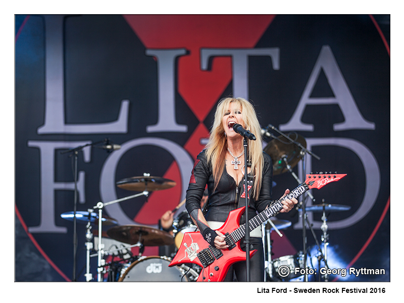 Lita Ford - Sweden Rock Festival 2016