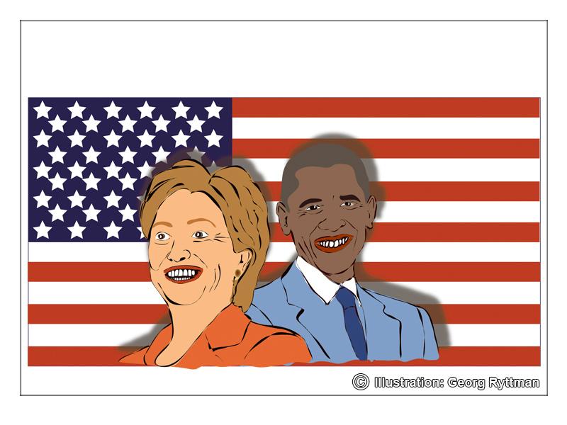 Hillary Clinton & Barack Obama