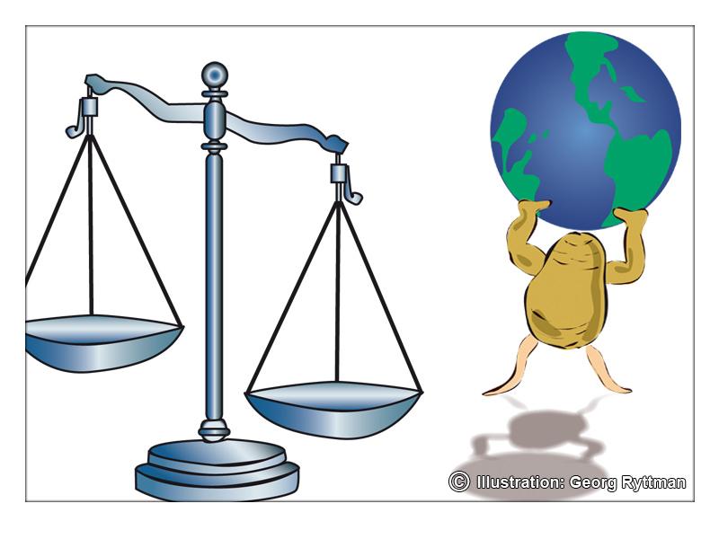 Vågskål/Potatis med Jorden på sina axlar