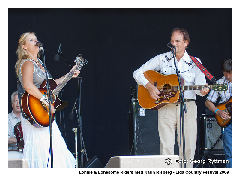 Lonnie Lonesome Riders med Karin Risberg - Lida Country Festival 2006