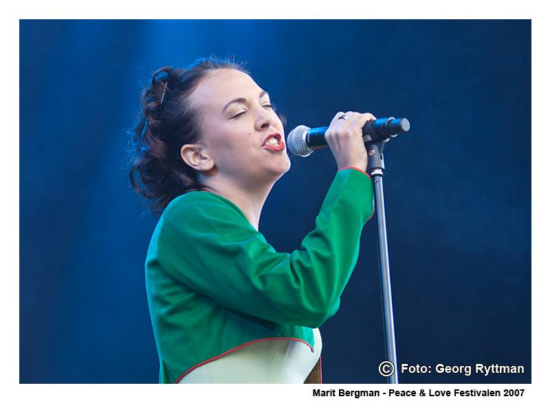 Marit Bergman - Peace & Love Festivalen 2007