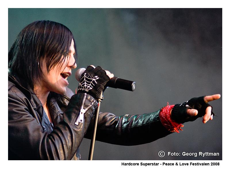 Hardcore Superstar - Peace & Love Festivalen 2008