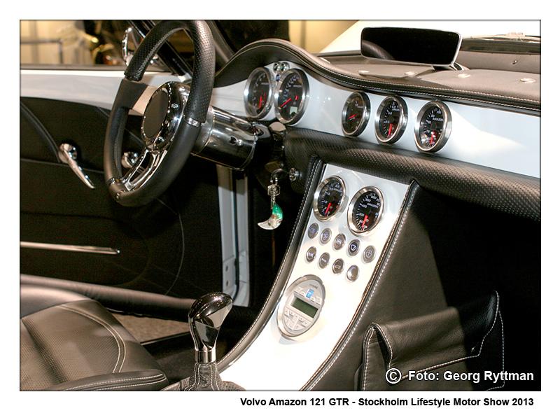 Volvo Amazon instrumentpanel - Stockholm Lifestyle Motor Show