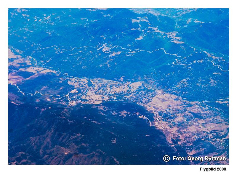 Flygbild berg