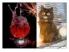 Nyårskort/Galen katt